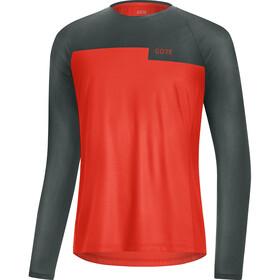 GORE WEAR Trail LS Shirt Men, fireball/urban grey